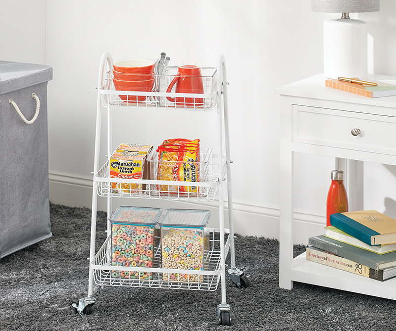 Back to School Kitchen Rolling Storage Cart
